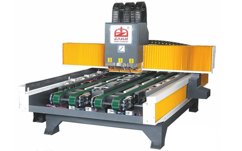 آلة حفر حفرة مع طاولة العمل المزدوجة ZD-TM750S